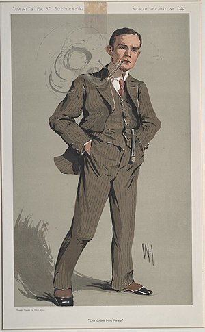 William Morgan Shuster - Shuster caricatured by WH for Vanity Fair, 1912