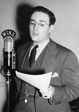William P. Gottlieb - Gottlieb at WINX radio station, Washington, circa 1940