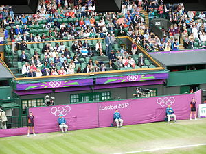 Centre Court - The Centre Court royal box during the London 2012 Summer Olympics.
