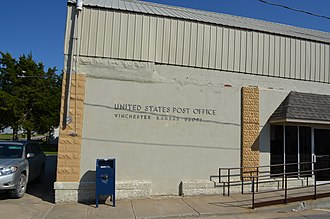 Winchester, Kansas - Post office in Winchester (2014)