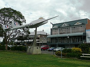 Wingham, New South Wales - A de Haviland Vampire at Central Park outside the Wingham RSL