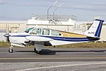 Wings Dubbo Pty Ltd (VH-TYO) Beechcraft E33A Bonanza taxiing at Wagga Wagga Airport.jpg