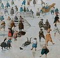 Winter landscape with skaters, by Hendrick Avercamp detail3.jpg