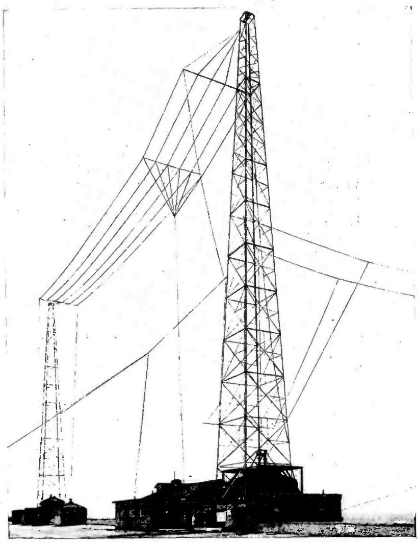 Wire T antenna station WBZ 1925