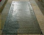 Wismar, Heiligen-Geist Grabplatte im Fußboden 2.JPG