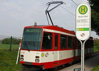Witten - Tram in Witten-Heven