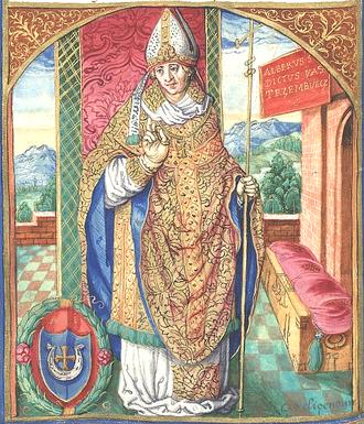 Jastrzębiec coat of arms - Portrait of Wojciech Jastrzębiec, 16th century