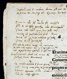 Handschriftliche Notizen Luthers zur ersten Psalmenvorlesung (Wolfenbütteler Psalter) (Quelle: Wikimedia)