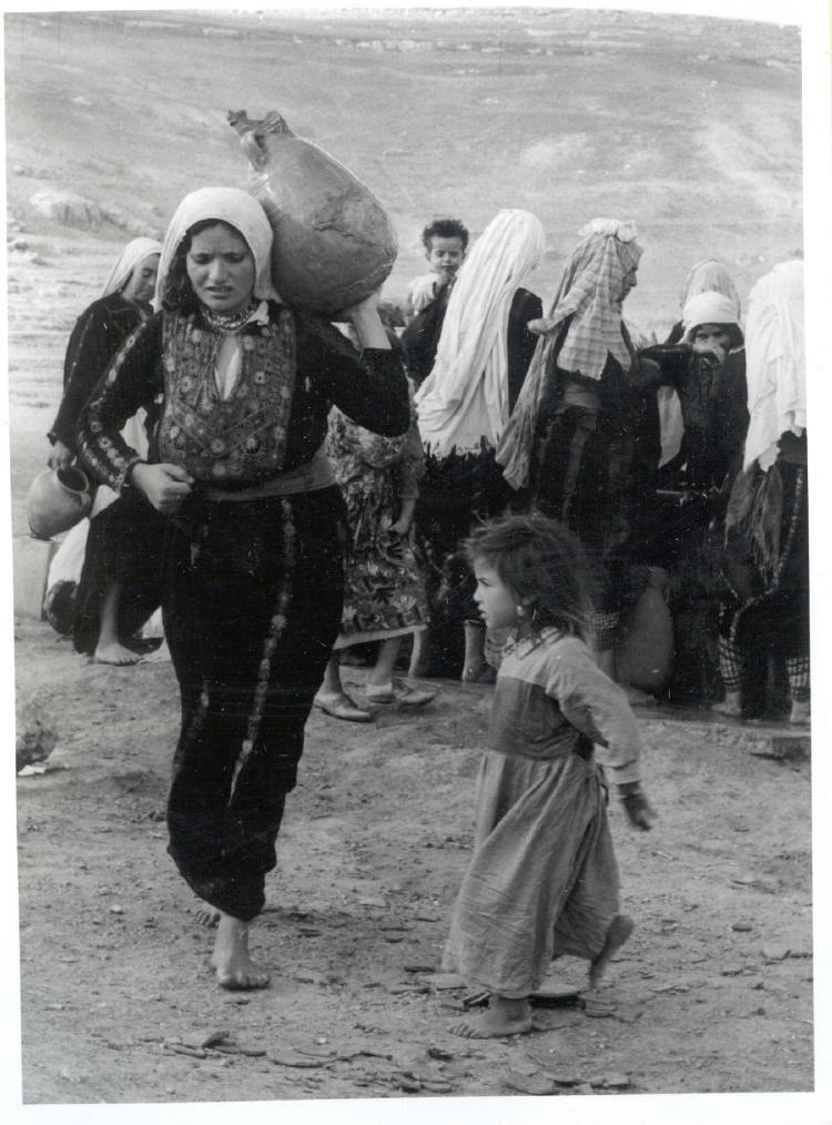 Woman nakba dress jug