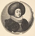 Woman with large circular fur hat and lace ruff MET DP823891.jpg