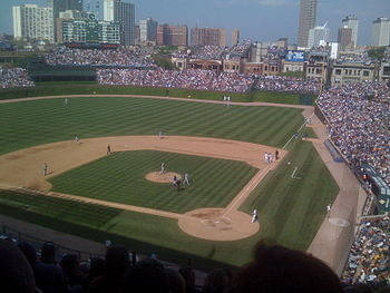 English: Wrigley Field - View from Section 216