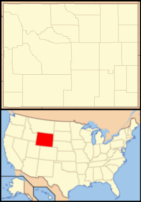 Location map USA Wyoming
