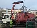 Wywóz segregowanych śmieci w 60-tysięcznym Tomaszowiem Mazowieckim, w województwie łódzkim, początek grudnia 2018 roku.jpg