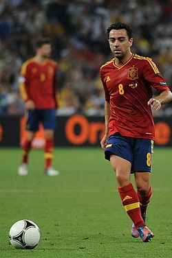 Xavi pela Seleção Espanhola na Euro 2012 30c0d5708b95f