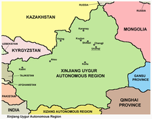 Map Xinjiang.Xinjiang Wikipedia