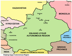 Maps Of Xinjiang - Wikipedia Tourist