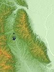 Yōrō Mountains Relief Map, SRTM-1.jpg