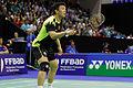 Yonex IFB 2013 - Quarterfinal - Liu Xiaolong - Qiu Zihan vs Mathias Boe - Carsten Mogensen 02.jpg