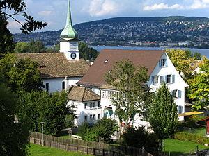 Zürichberg - Zürichberg hill seen from Wollishofen (2008)