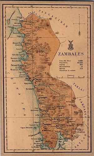 Zambales - Zambales map in 1918