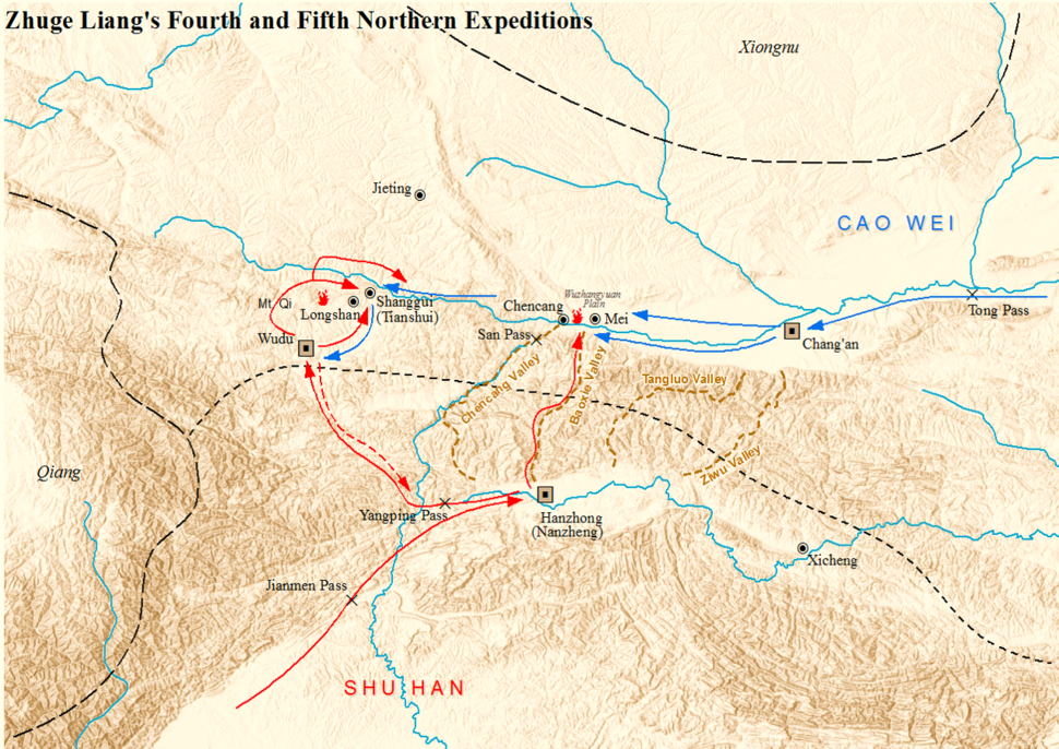 Zhuge Liang 4th and 5th Northern Expeditions