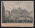 Zicht op de Grote Markt en het Stadhuis van Antwerpen toen de Vrijheidsboom geplant werd op 17 april 1831.jpg
