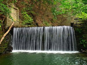 Wayne Township, Clinton County, Pennsylvania - Small dam on McElhattan Creek, Wayne Township, Clinton County, within Zindel Park
