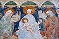 Zweinitz Pfarrkirche hl Egydius Chor S-Wand got Fresko Sacra Conversazione Ausschnitt 22102014 570.jpg
