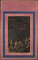 """Bhil Couple Hunting Deer at Night"", Folio from the Davis Album MET DP107564.jpg"