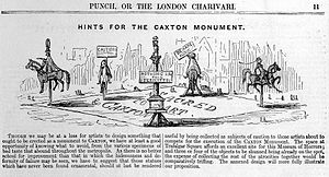 """""""Hints for the Caxton Monument"""" from Punch 1847 Wellcome L0017747.jpg"""