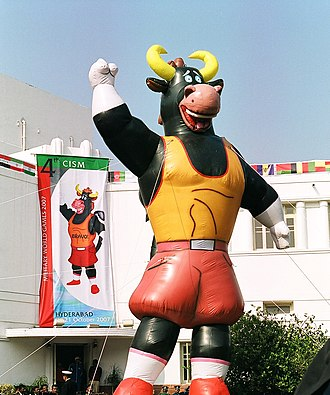 2007 Military World Games - 'Bravo' the mascot for 4th Military World Games to be held at Hyderabad and Mumbai on 4-11 October 2007