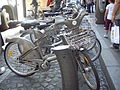 'Cycle rental stand' in Paris..jpg