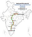 (Gorakhpur - Yesvantpur) (via Ayodhya) Express Route map.jpg