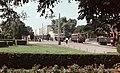 Állomás tér, villamos és keskeny-nyomtávú vasút végállomás a vasútállomás előtt. Fortepan 21906.jpg