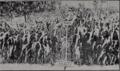 Électroculture, effet d'un petit paratonnerre FB (Fernand Basty) sur du maIs, en 1910 jardin Bertholon à Angers.png