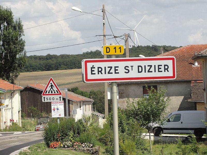 Érize-Saint-Dizier (Meuse) city limit sign