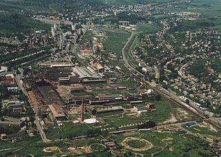 Ózd Town in Borsod-Abaúj-Zemplén, Hungary