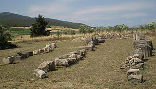 Hyampolis city in Ancient Greece
