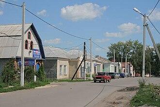 Petrovsky District, Tambov Oblast - Street scene in Petrovskoye