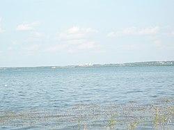 Плещеево озеро. Вид на Переславль.JPG