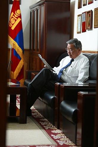 Prime Minister of Mongolia - Image: Р.Амаржаргал ажлын өрөөндөө