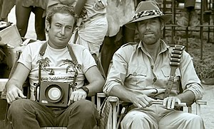 Richard Chamberlain - Still photographer Yoni S. Hamenachem and Chamberlain on the set of King Solomon's Mines in Zimbabwe