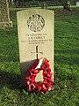-2018-12-04 CWGC gravestone, Private J. B. Cubitt, Parish church of Saint John the Baptist's head, Trimingham.JPG