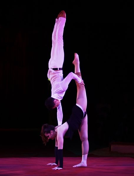 File:009 VANESSA und SVEN aus Deutschland Akrobaten mit vertauschten Rollen.JPG
