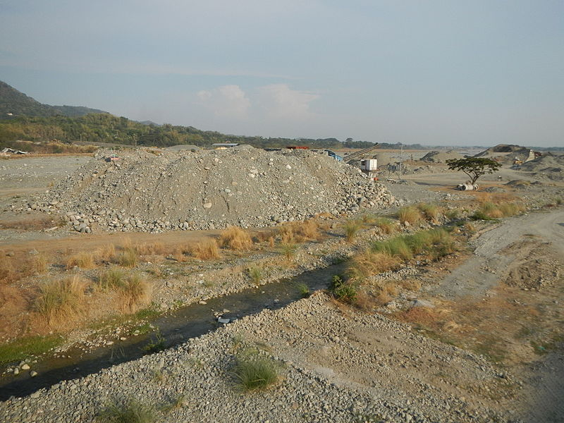 quarrying Bued River