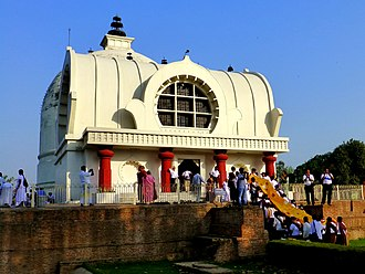 Kushinagar - The Parinirvana Temple with the Parinirvana Stupa, Kushinagar