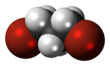 Spacefill model of 1,3-dibromopropane