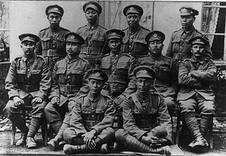 Masumi Mitsui - The Japanese-Canadian platoon of the 10th Battalion, CEF, Mitsui at the far left