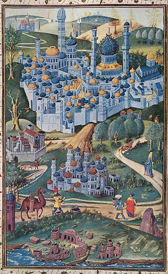 History of Jerusalem during the Middle Ages - 1450s depiction of the city by Jean Miélot.