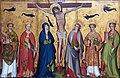 1430 Kölnisch Christus am Kreuz mit Heiligen Gemäldegalerie Kat.Nr. 1627B anagoria.jpg